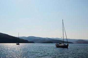 yachting, boats at sea, horizontal