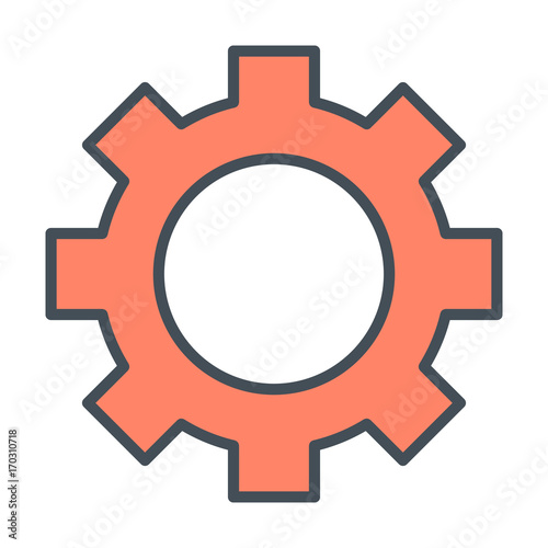 Gear wheel line icon  Cog sign  Options, preferences and
