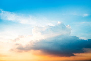 Cloudy blue sky abstract background