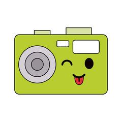 photographic camera kawaii style icon image vector illustration design