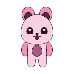 pink bear cute animal icon image vector illustration design
