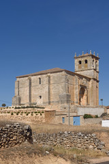 Nuestra Senora de la Asuncion, Olmedillo de Roa, Ribra del Duero, Burgos province,Castille and Leon,Spain