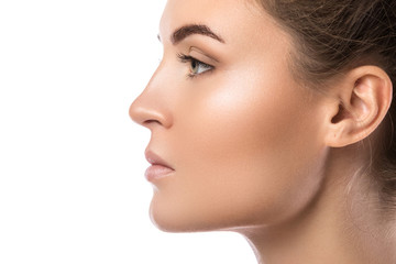 Female face in profile Fototapete