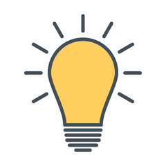 Light bulb line icon. Idea sign, solution, thinking concept. Vector