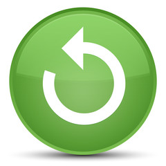 Refresh arrow icon special soft green round button