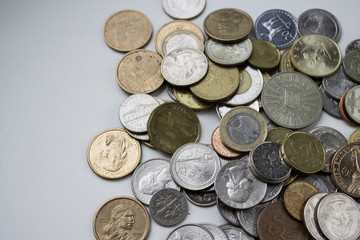 Beautiful image of coins from different countries