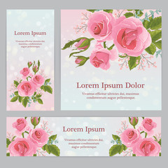 English  pink rose graphic flowers.