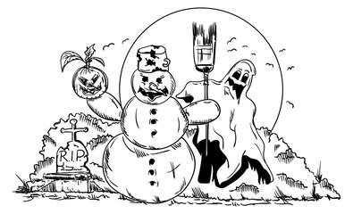 vector Halloween picture