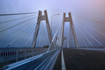 Canvas Prints Bridge Modern Macharski bridge in Cracow in the evening