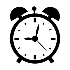 Vector illustration of alarm clock isolated on the white background