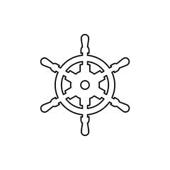 Yacht handwheel icon simple flat style illustration