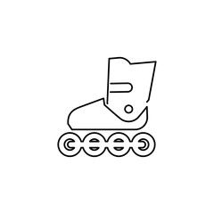 Inline skates simple flat style icon illustration