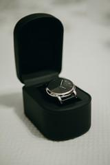Elegant classic watch in a black box