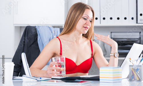 hot office pic. Sexy Business Woman In Hot Office Pic O