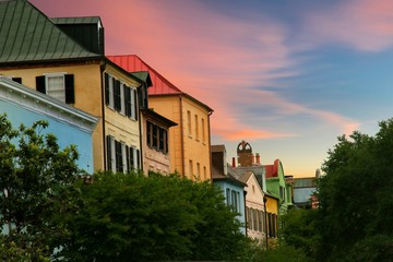 Rainbow Row is one of the most historical streets in Charleston, South Carolina, lined with multi colored houses that pre date the Civil War.