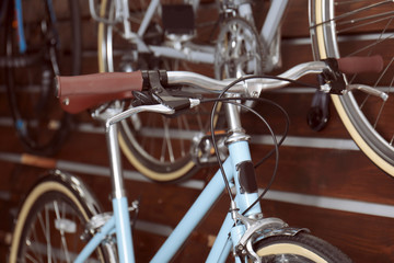 New bicycle in modern shop