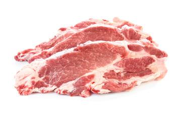 Fresh raw meat on white background