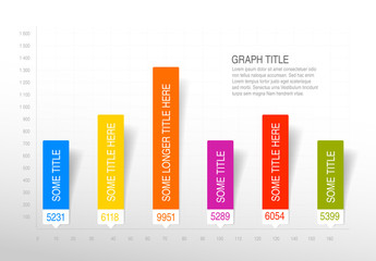 Colorful Bar Graph Infographic Layout