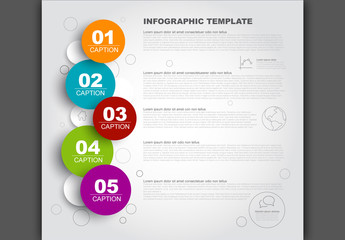 Colorful 5 Step Inforgraphic Layout