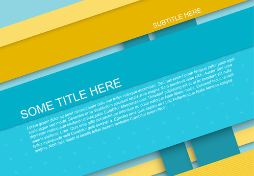 Blue and Yellow Title Page Layout