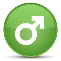 Male sign icon special soft green round button