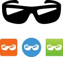 Cool Sunglasses Icon - Illustration