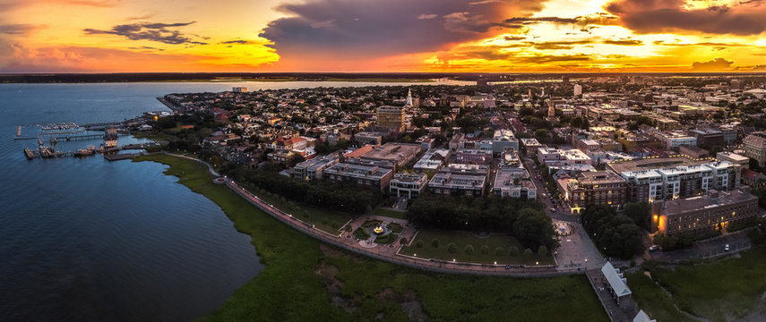 Charleston fountain from above