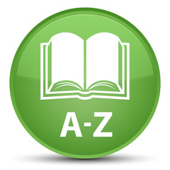 A-Z (book icon) special soft green round button
