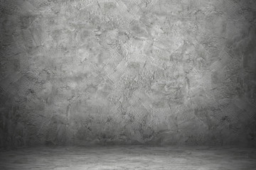 Wall Mural - cement wall and floor with black shadow for pattern and background