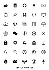 icon set for web design [vector]