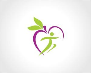 people healthy fruits logo