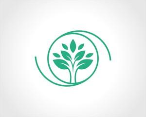 round circle tree logo