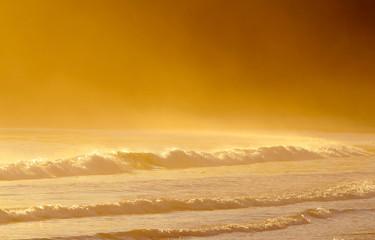 Waves at San Simeon State Park, near Hearst Castle, California, USA