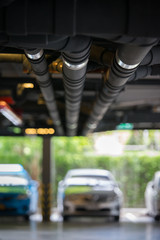 sanitary pipe in car parking