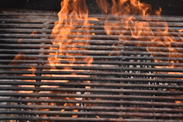 Firewood for barbecue,metallic grill