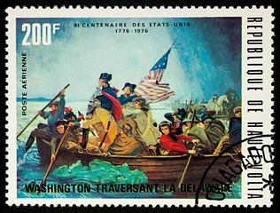 George Washington crossing Delaware River