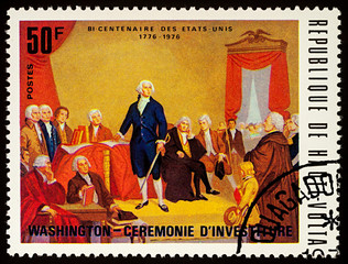 Inauguration Ceremony of George Washington, 1st American President