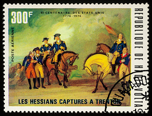 The Hessians surrender in Trenton, 1776