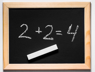 A mathematical example on a chalkboard