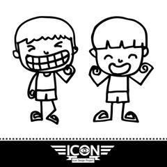 kid cartoon doodle