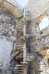 Ruins of 14th century medieval castle, Ogrodzieniec Castle,Trail of the Eagles Nests, Podzamcze, Poland