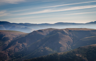 Montes de la Sierra de la Cabrera, La Baña, León, España.