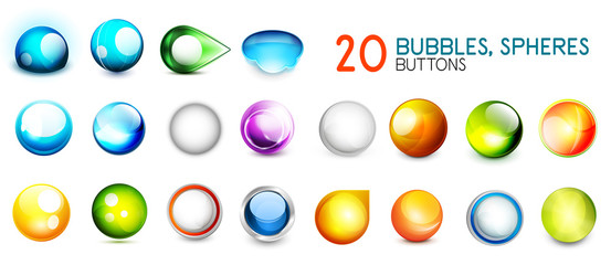 Mega collection of color sphere buttons