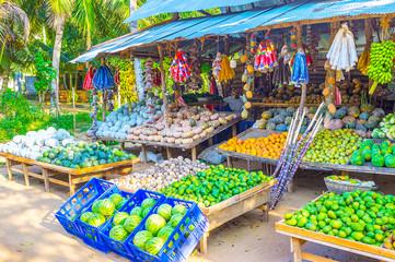 The roadside farmer stall in Sri Lanka