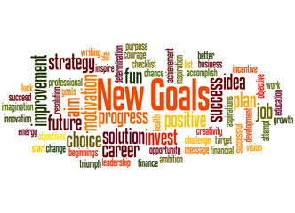 New goals, word cloud concept