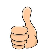 hand thumb up cartoon vector symbol icon design. Beautiful illustration isolated on white background