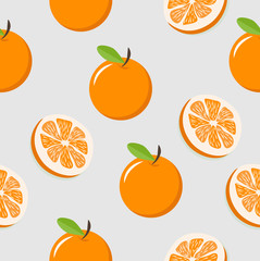 oranges with slice of a oranges pattern