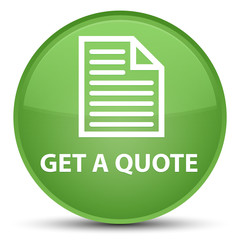 Get a quote (page icon) special soft green round button