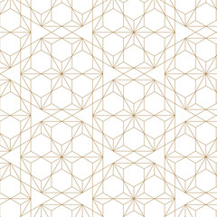 Japanese pattern vector. Gold geometric background for backdrop, template, cover page design, poster, postcard.