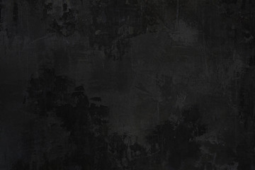 School blackboard Old grungy texture grey concrete wall background pattern black dirty and dusty background or texture with copy space for text